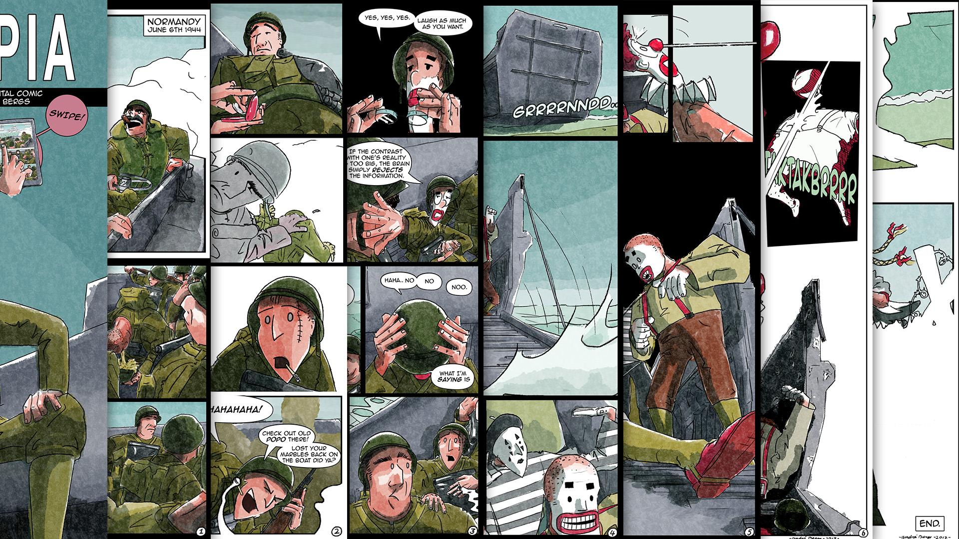 3д комикс visual contact